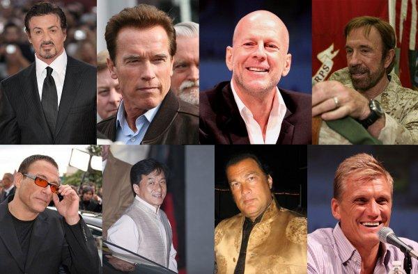 Action film actors