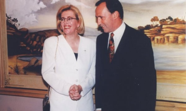 Anne Summers with Paul Keating 1994