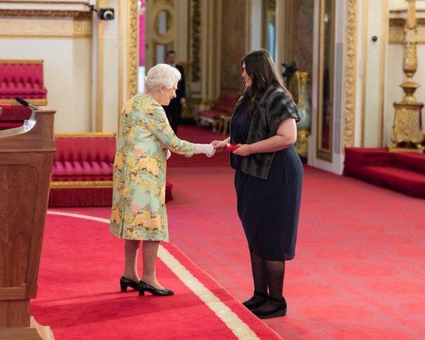 Figueiredo meets the queen
