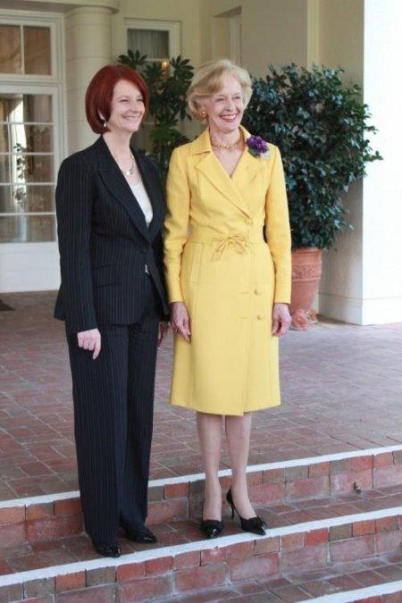 Julia Gillard and Quentin Bryce