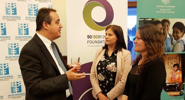 Yannick speaks to UN Women Aust