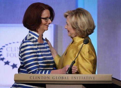gillard Clinton