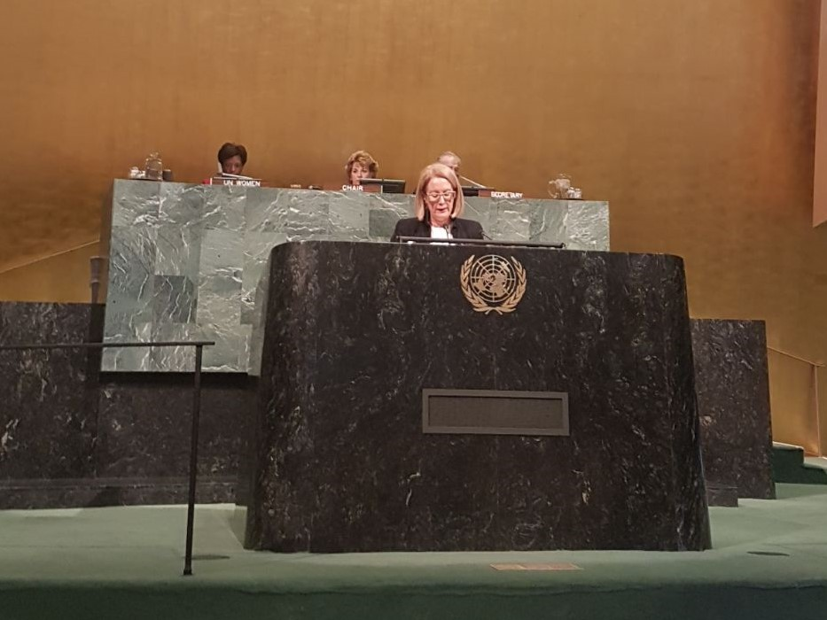 Global stand: Elizabeth Broderick's CSW address at the UN