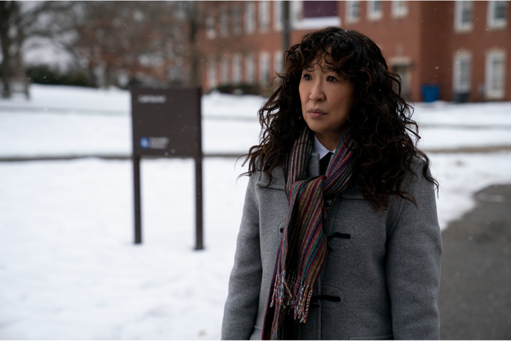 """Sandra Oh as Ji-Yoon in episode 2 of """"The Chair."""" Picture: Eliza Morse/Netflix © 2021"""