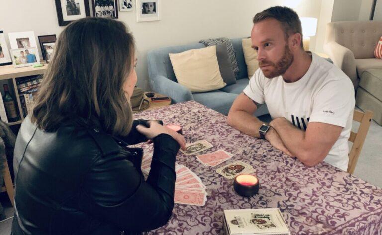 Gary receives a tarot reading