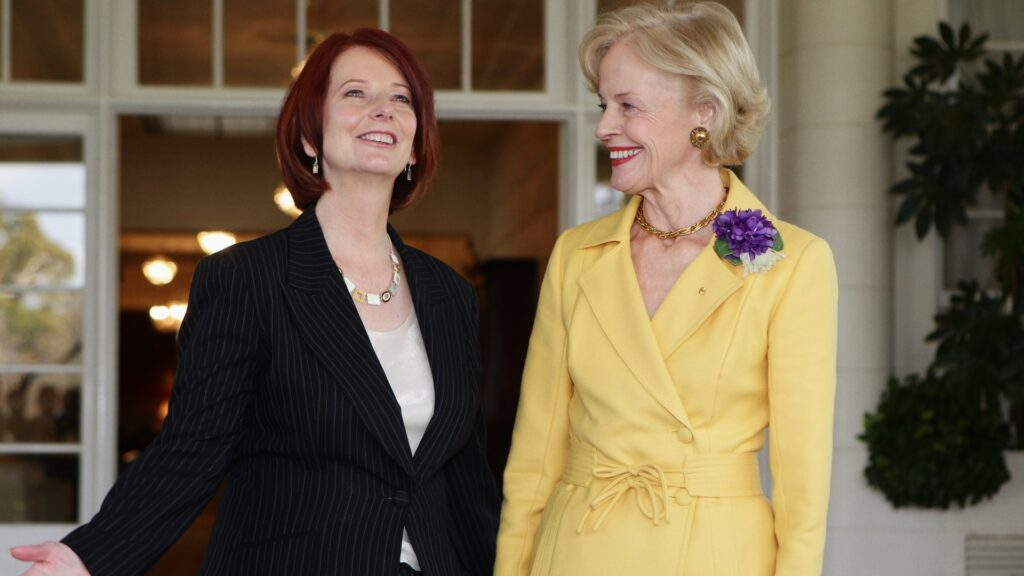 Strong Female Lead Julia Gillard and Quentin Bryce.